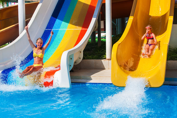Children's clubs and water parks